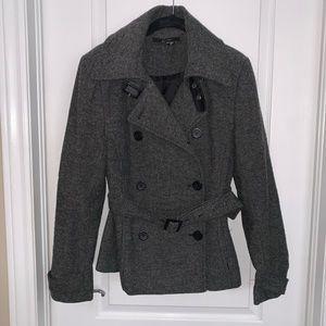 Zara Jacket - Tweed Gray belted